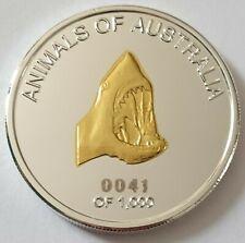 2012 Animals of Australia 1oz 100 Mills Silver & Gold coin - 0041/1000 Shark