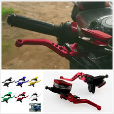 1 Pair Red CNC Motorcycle Hydraulic Brake Clutch Master Cylinder Reservoir Lever