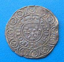 Charles VI gros aux lis sous une couronne frappé à TOURNAI BELGIQUE