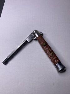 VINTAGE Switchblade Knife Folding Pocket Comb Japanese 4 blade Rare High Quality