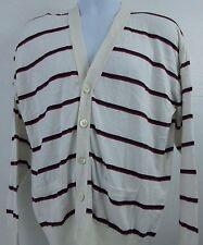 Polo Ralph Lauren Mens 80s Preppy Cardigan Thin Sweater Sz M Sea Island Cotton