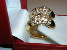 SOLID 18K YELLOW GOLD PINK SAPPHIRE & DIAMOND HOOP EARRINGS - NEW
