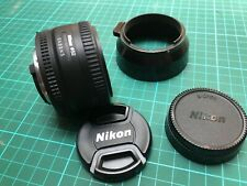 Nikkor Lens, Nikon AF Nikkor 50mm 1:1.8 D. Used. With Caps and hood