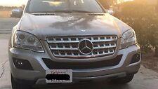 Bumper Tow Hook License Plate Mount Bracket For Mercedes M-Class 2006-2011 W164
