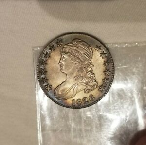 1826 50C Capped Bust Half Dollar Gem Uncirculated MS Grand Appeal!!