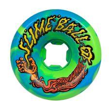 Santa Cruz Slime Balls Vomits Skateboard Wheels 60mm 97a Blue/Green Swirl
