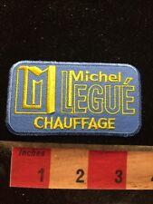 Vtg Michel Legue Chauffage Advertising / Uniform Type Patch 69W