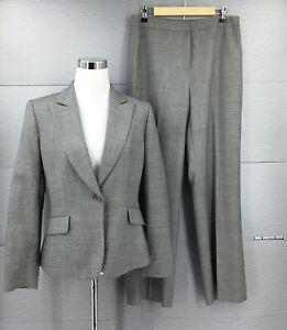 Tahari Arthur S. Levine Women's Wool Blend 2PC Pant Suit Size 10