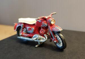 Matchbox Motorrad aus den 50er- 60er Jahren,Metallguß, 7cm, Rarität!