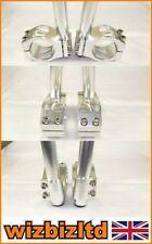 Manillares color principal plata para motos Kawasaki