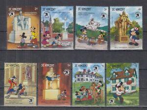 F466. St Vincent - MNH - Cartoons - Disney's - Architecture - Locations