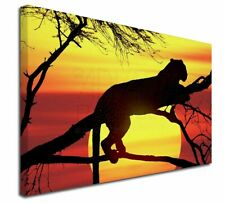 """Leopard 30""""x20"""" Wall Art Canvas, Extra Large Picture Print Decor, AT-31-C3020"""