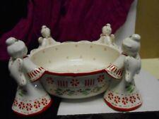 Temptations by Tara Christmas Figural Angel Bowl  Serving Centerpiece 1.5 Qt