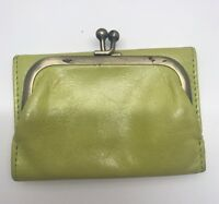 HOBO INTERNATIONAL Small Robin ROSE Trifold Wallet Clutch Citron Yellow Lime