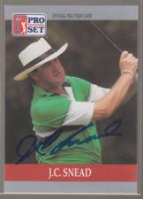 Autographed 1990 Pro Set J.C. Snead