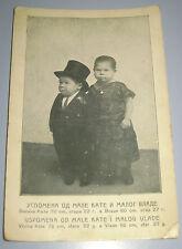 Midgets Dwarfs Little People Postcard Bosnia Sarajevo Kingdom Yugoslavia Rare