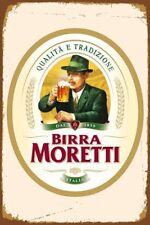Birra Moretti Italian It Retro Metal Tin Sign Poster Plaque Garage Wall Decor A4