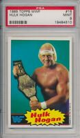 1985 Topps WWF Hulk Hogan Pro Wrestling Stars Card #16 PSA 9 Mint #4510