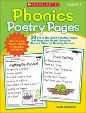 Phonics Poetry Pages: 50 Fill-in-the-Blank Practice Pages That Help Kids Master