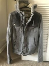 Aeropostale Kids Hooded Winter Jacket Size XS /TP Gray 100% Cotton