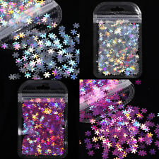 Holographicss Nail Art Sequins Snowflake Nail Glitters Stickers Decoration Tips