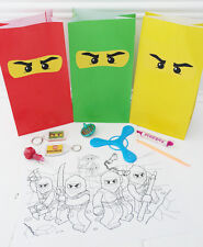 Pre-Filled Deluxe LEGO NINJAGO Themed Party Bags/Loot Bags/Party Bag Fillers
