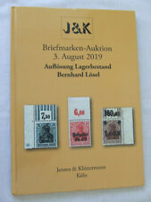 J & K Stamp Auction Catalogue - Losel Germany Collection - Cologne Aug 2019