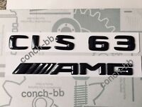 Mercedes CLS 63 AMG Badge Emblem Decals New Style Gloss Black