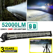 "20 Inch 1200W LED Work Light Bar Flood Spot Combo Offroad Truck Driving Lamp 22"""