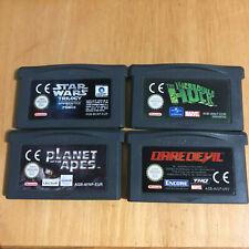 Nintendo Gameboy Games - Incredible Hulk, Daredevil, Star Wars, Planet of t Apes
