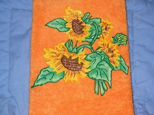 Sunflower Hand Towel Bathroom or Kitchen Sunflower Bunch Handmade New