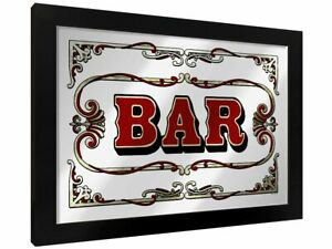 Bar Mirrored Tin Sign, Vintage, Retro, Classic, Nostalgic, Alcohol, Pub, Gift