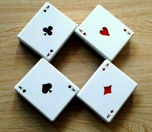 Poker Playing Cards Contact Lens Case Travel Kit Portable Holder Lenses Boxes