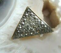 tuch schieber anhängher  goldenes metall mit funkelsteinchen