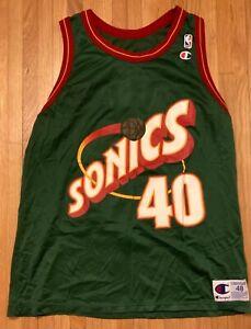 Shawn Kemp Seattle Supersonics Champion NBA Basketball Jersey - Size 48