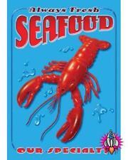 ALWAYS FRESH SEA FOOD VINTAGE RETRO STYLE DISTRESSED METAL DINER WALL SIGN