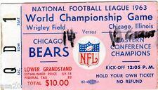 1963 WORLD CHAMPIONSHIP TICKET STUB NY GIANTS @ CHICAGO BEARS