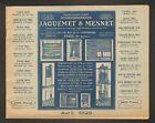 """PARIS (XV°) USINE de MONTE-CHARGE , VOLETS """"JAQUEMET & MESNET"""" Catalogue en 1929"""
