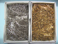 """Sequin Pins GOLD or SILVER 1/2"""", 3/4"""", 1"""" Half Pound Box"""