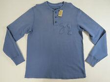 shirt Knit Top Z X-Large Cremieux Mens Blue Button Long Sleeve Thick 71
