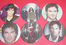 "Vampire Diaries Ian Somerhalder Set 6 große 2 1/4"" Buttons Pins Party gefallen"