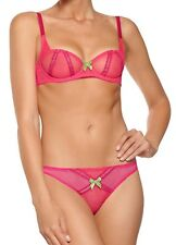 9d6835345d L AGENT BY AGENT PROVOCATEUR Bra 34D and Brief or Thong Medium Set BNWT  Fuchia