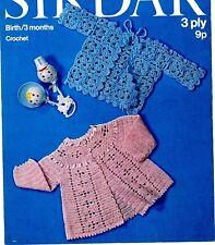 Sirdar Crochet knitting pattern  Baby Matinee Coats