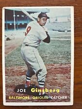 1957 Topps Baseball Card #236 Joe Ginsberg Baltimore Orioles VG-VG/EX No Creases