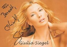 Autogramm AK Giulia Siegel Model Din A 5 Karte Tochter v Ralph Siegel Karte 16-5