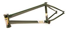 "S&M BIKES NBD FRAME FOREST GREEN 20.5 BMX BIKE 20.5"" BTM ATF street brakeless"