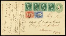 7¢ #160, 1¢ 156, 3¢ #158 (4) Jackson MS registered to Sherman Texas, cat $160+