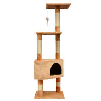 "Cat Tree House Furniture Condo 51"" Pet Play Tower Scratching Post for Cats"