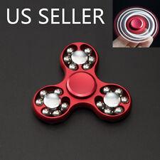 #2 Lightning  Aluminum Alloy Tri-Spinner Fidget Toy EDC Hand Finger Spinner Red