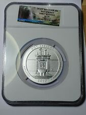 2010 P ATB 5oz SILVER HOT SPRINGS 25C, NGC SP 70 ER